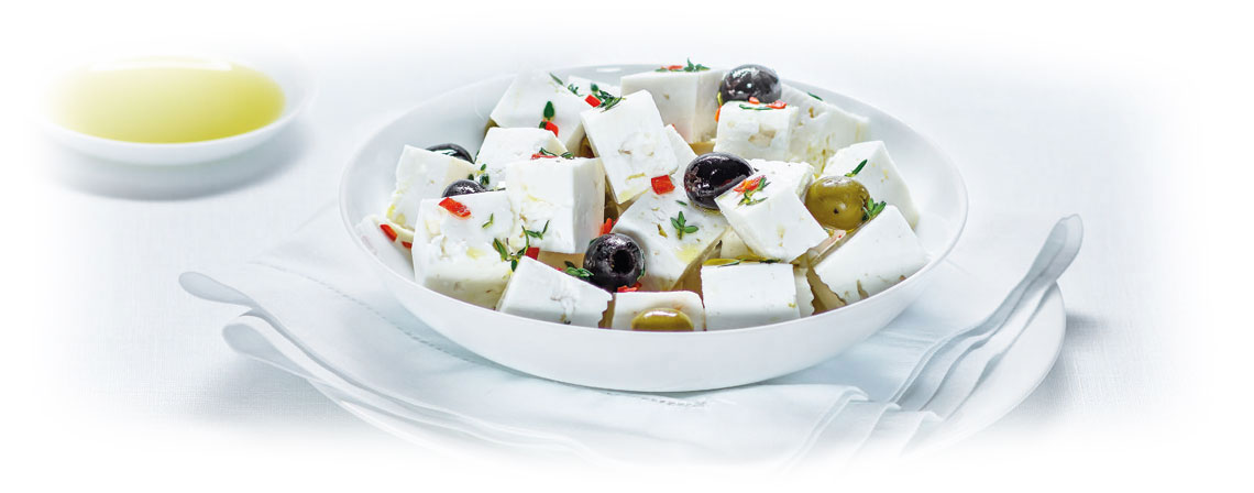 White Cheese salad